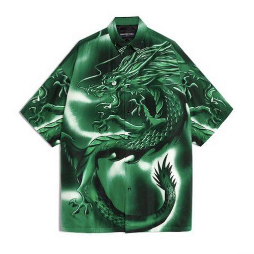Balenciaga SS 18 dragon camisa