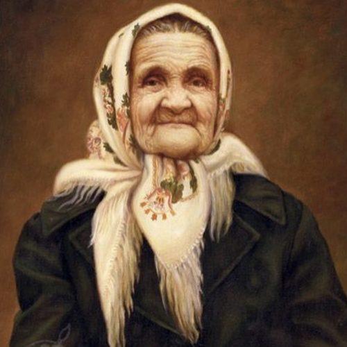 old babushka grandma