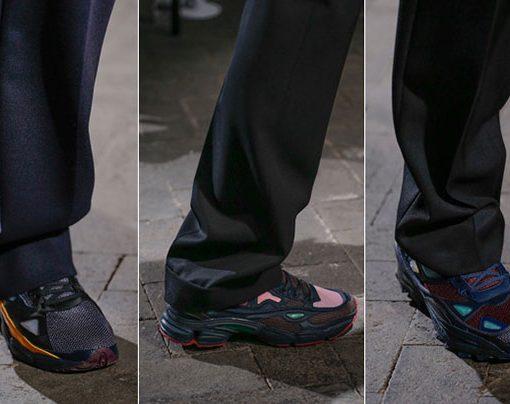 raf simon zapatillas diseño futurista