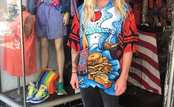 man wearing mambo shirt