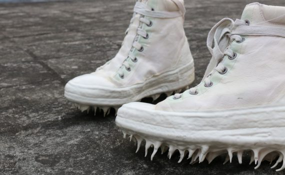 Carol Christian Poell white drip sneakers