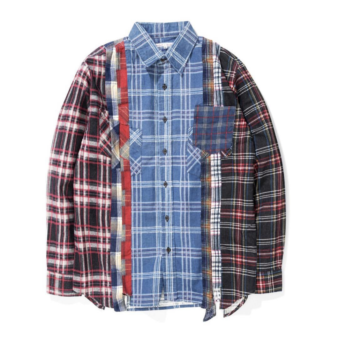 REBUILD BY NEEDLES SEVEN CUTS FLANNEL SHIRT