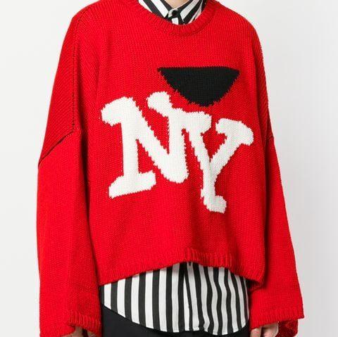Raf Simons FW 17 I love NY red sweater