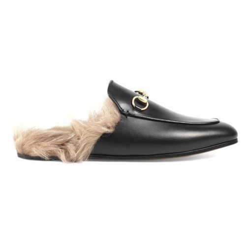 gucci loafers horsebit slippers faux fur