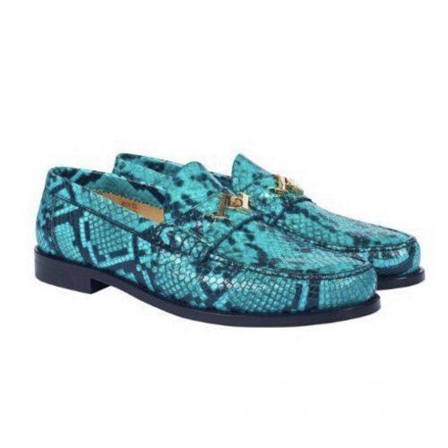 snake skin palace penny loafers