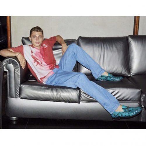 blondey mccoy snake skin palace penny loafers