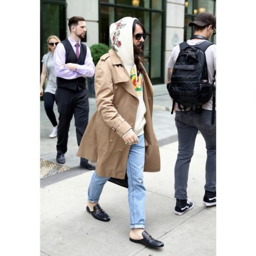 alessandro michele wearing slipper gucci loafers
