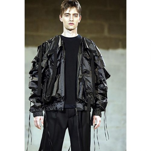 wearing Raf Simons parachute bomber consumed SS 03