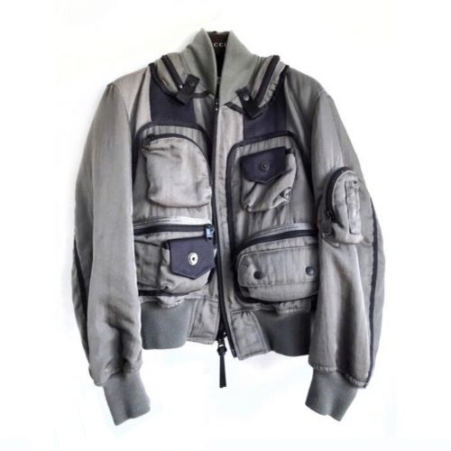 Issey Miyake AW 96 grey bomber Robin Williams