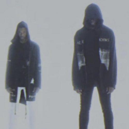 models wearing Raf simons AW 05 shadows poltergeist