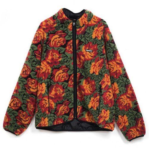 supreme sherpa roses jacket