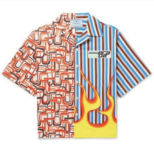Prada flames shirt