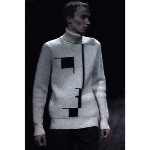 Runway Raf Simons Bauhaus AW 03 white sweater