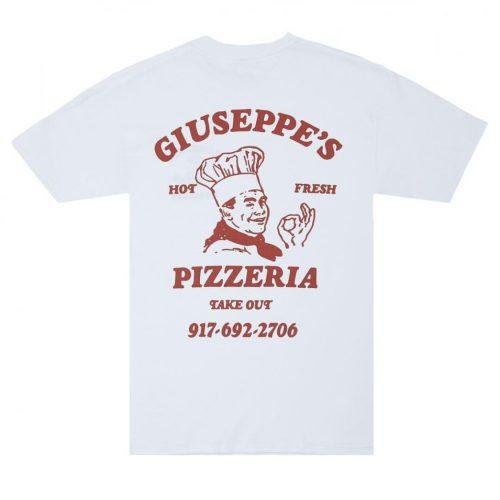 Call me 917 pizzeria advertising t shirt
