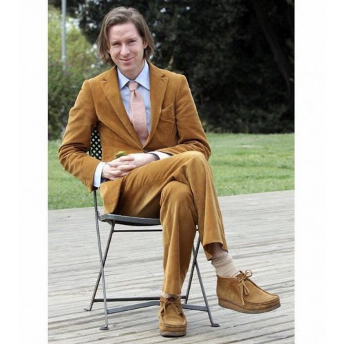 wes anderson wearing wallabees