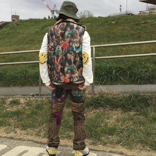 wearing kapital japanese brand vest