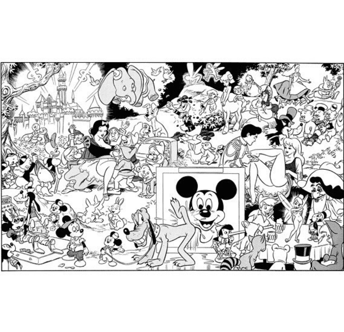 Disney drawing done by Paul Krassner for The Realist magazine