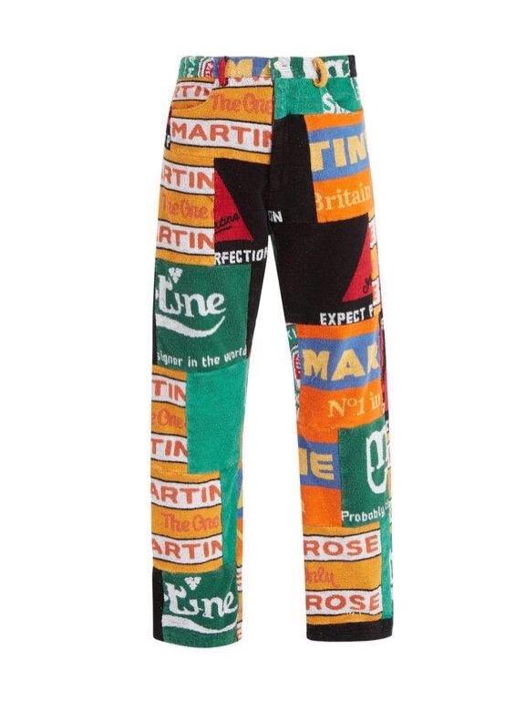 Martine Rose history story beer mat pants