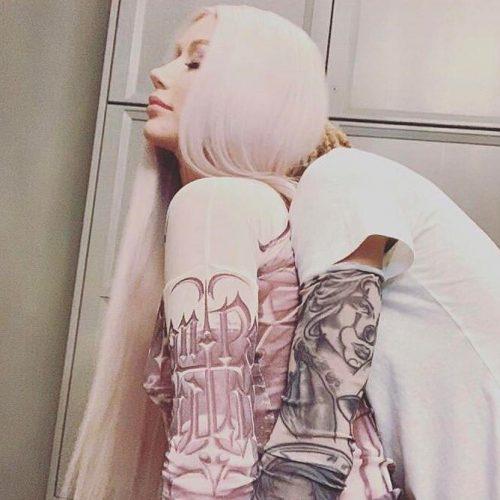 iggy azalea carti tattoo top gaultier