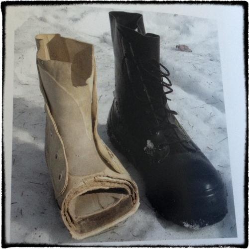 bunny boots story history raf simons military